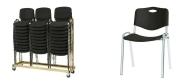 Stabelstol Luxus plast med plast sæde og ryg