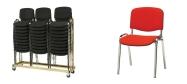 Stabelstol Øko polster med rød stof